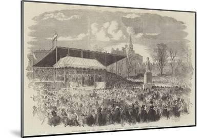 Inauguration of the Statue of Her Majesty, in Peel-Park, Salford--Mounted Giclee Print