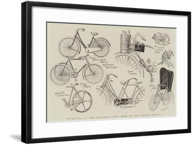 Novelties at the National Cycle Show at the Crystal Palace--Framed Giclee Print