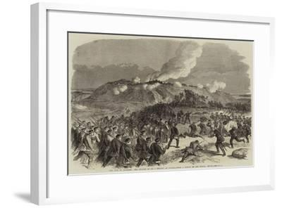 The War in Denmark, the Assault on No 4 Redoubt at Duppel--Framed Giclee Print
