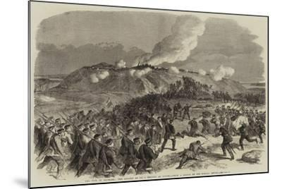 The War in Denmark, the Assault on No 4 Redoubt at Duppel--Mounted Giclee Print