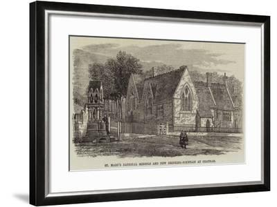 St Mary's National Schools and New Drinking-Fountain at Chatham--Framed Giclee Print