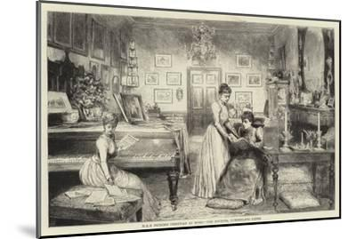 HRH Princess Christian at Home, the Boudoir, Cumberland Lodge--Mounted Giclee Print