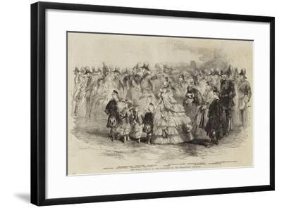The Royal Family at the Founding of the Wellington College--Framed Giclee Print