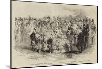 The Royal Family at the Founding of the Wellington College--Mounted Giclee Print