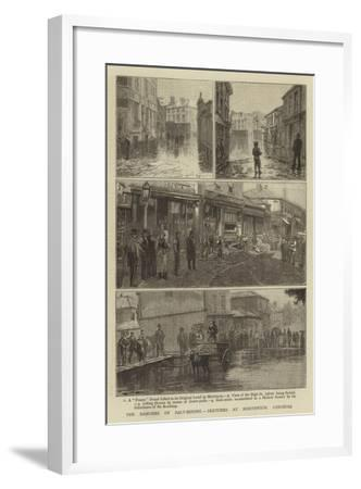 The Dangers of Salt-Mining, Sketches at Northwich, Cheshire--Framed Giclee Print