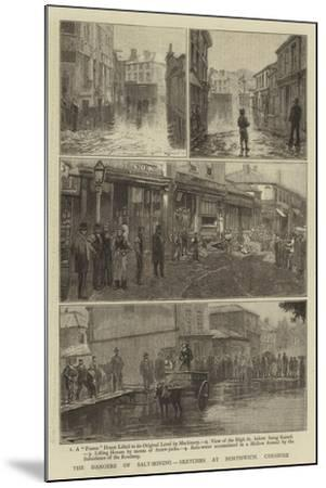 The Dangers of Salt-Mining, Sketches at Northwich, Cheshire--Mounted Giclee Print