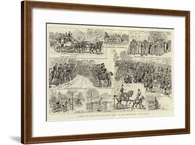 A Meet of the Four-In-Hand Club at the Magazine, Hyde Park--Framed Giclee Print