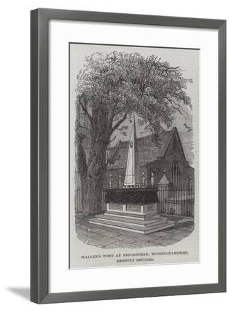 Waller's Tomb at Beaconsfield, Buckinghamshire, Recently Restored--Framed Giclee Print