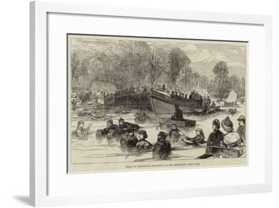 Trial of Life-Saving Apparatus on the Serpentine, Hyde Park--Framed Giclee Print