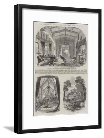 The Marriage of Princess Alice with Prince Louis of Hesse--Framed Giclee Print