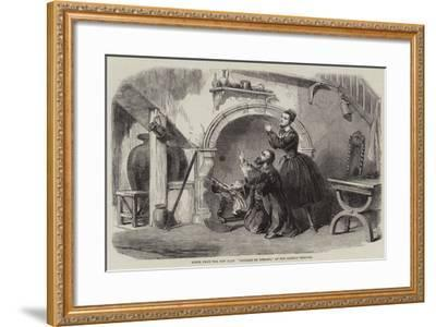 Scene from the New Play Payable on Demand, at the Olympic Theatre--Framed Giclee Print