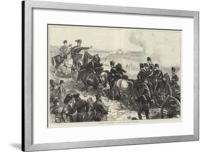 Artillery at the Brighton Volunteer Review, Halt! Action, Front--Framed Giclee Print
