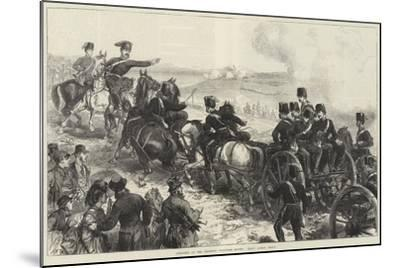 Artillery at the Brighton Volunteer Review, Halt! Action, Front--Mounted Giclee Print