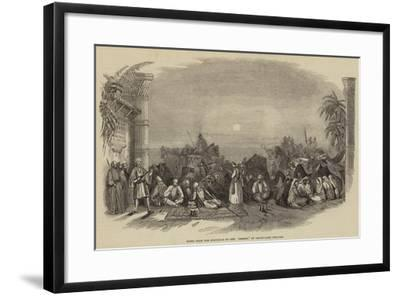 Scene from the Spectacle of the Desert, at Drury-Lane Theatre--Framed Giclee Print