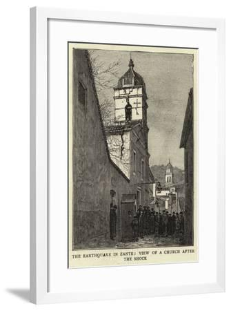 The Earthquake in Zante, View of a Church after the Shock--Framed Giclee Print