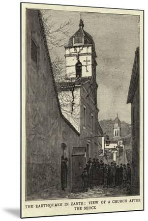 The Earthquake in Zante, View of a Church after the Shock--Mounted Giclee Print