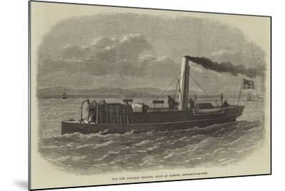 The New Gun-Boat Staunch, Built at Elswick, Newcastle-On-Tyne--Mounted Giclee Print