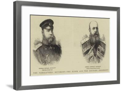 The Panslavonic Movement, the Elder and the Younger Skobeleff--Framed Giclee Print