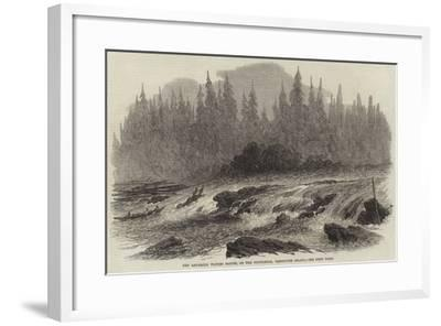 The Laughing Waters Rapids, on the Puntledge, Vancouver Island--Framed Giclee Print