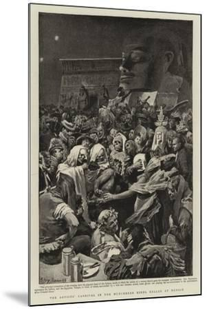 The Artists' Carnival in the Munchener Kindl Keller at Munich--Mounted Giclee Print