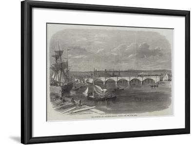 The Inverness and Ross-Shire Railway, Viaduct over the River Ness--Framed Giclee Print