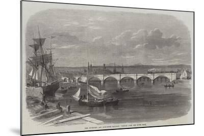 The Inverness and Ross-Shire Railway, Viaduct over the River Ness--Mounted Giclee Print