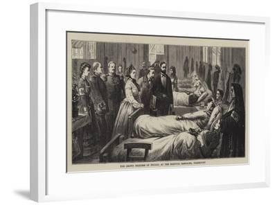 The Crown Princess of Prussia at the Hospital Barracks, Frankfort--Framed Giclee Print