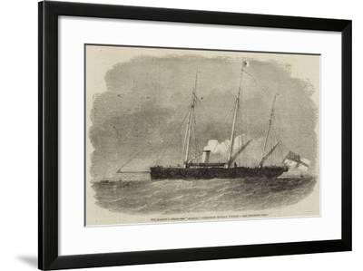 Her Majesty's Steam-Ship Seagull, Commander Montagu O'Reilly--Framed Giclee Print