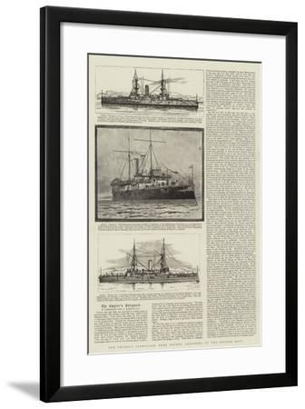 The Empire's Safeguard, Some Recent Additions to the British Navy--Framed Giclee Print