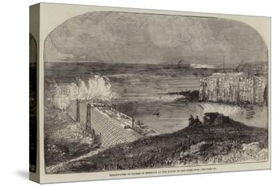 Breakwater in Course of Erection at the Mouth of the River Tyne--Stretched Canvas Print