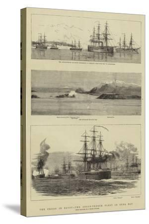 The Crisis in Egypt, the Anglo-French Fleet in Suda Bay--Stretched Canvas Print