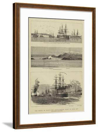 The Crisis in Egypt, the Anglo-French Fleet in Suda Bay--Framed Giclee Print