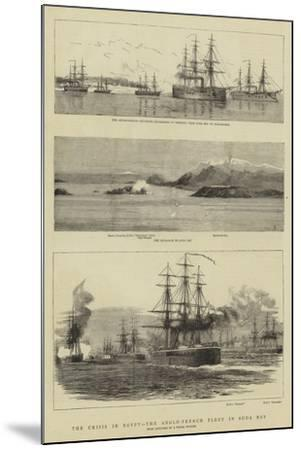 The Crisis in Egypt, the Anglo-French Fleet in Suda Bay--Mounted Giclee Print