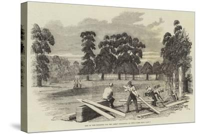 Site of the Building for the Great Exhibition of 1851--Stretched Canvas Print