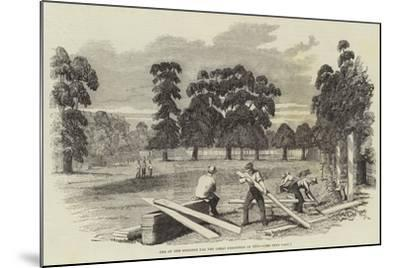 Site of the Building for the Great Exhibition of 1851--Mounted Giclee Print