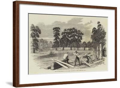 Site of the Building for the Great Exhibition of 1851--Framed Giclee Print