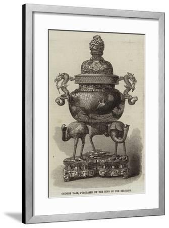 Chinese Vase, Purchased by the King of the Belgians--Framed Giclee Print