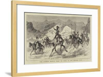 The Afghan War, a Dak, or Post, in the Khyber Pass--Framed Giclee Print