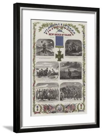 Victoria Cross, the New Order of Valour for the Navy--Framed Giclee Print