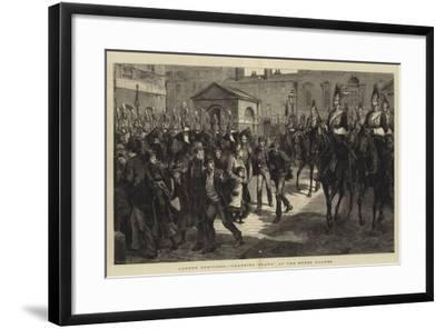 London Sketches, Changing Guard at the Horse Guards--Framed Giclee Print