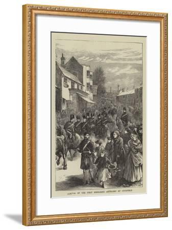 Arrival of the First Middlesex Artillery at Cuckfield--Framed Giclee Print