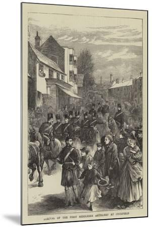 Arrival of the First Middlesex Artillery at Cuckfield--Mounted Giclee Print