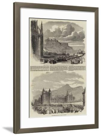 The Great Gathering of Juvenile Abstainers at Edinburgh--Framed Giclee Print