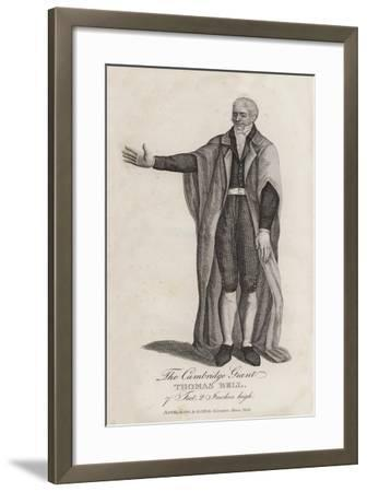 The Cambridge Giant, Thomas Bell, 7 Feet, 20 Inches High--Framed Giclee Print