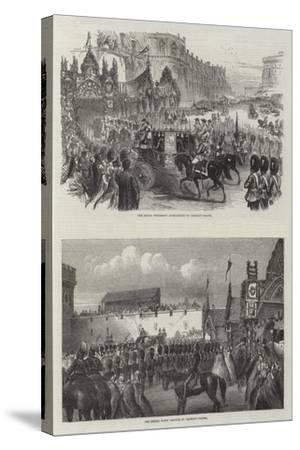 Wedding of the Prince of Wales and Alexandra of Denmark--Stretched Canvas Print