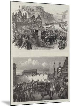 Wedding of the Prince of Wales and Alexandra of Denmark--Mounted Giclee Print