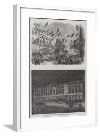 Wedding of the Prince of Wales and Alexandra of Denmark--Framed Giclee Print