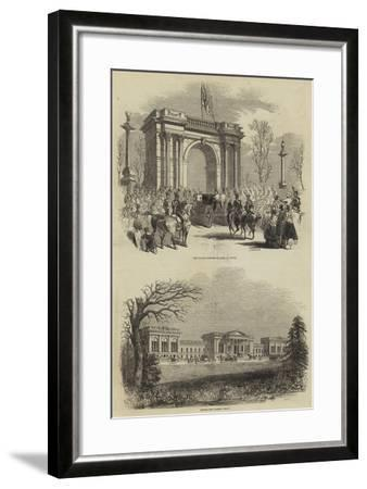 The Queen's Visit to the Duke of Buckingham, at Stowe--Framed Giclee Print