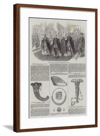 Illustrations of the Royal Marriage, the Reception-Hall--Framed Giclee Print
