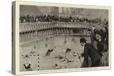 A Water-Polo Match at the Crown Baths, Kennington Oval--Stretched Canvas Print